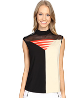 Jamie Sadock - Candy Sleeveless Top with Mesh Panel on Front Chest