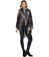 Steve Madden - Ombre Plaid Boucle Double Layer Cape with Toggle