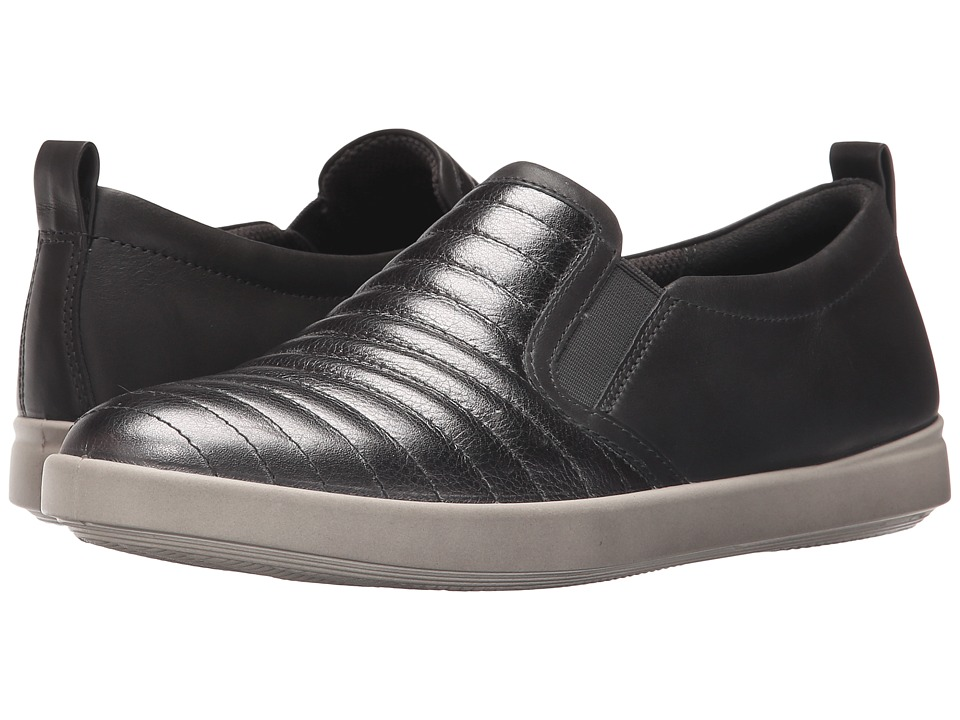 ECCO Aimee Elastic Slip On Dark Shadow Metallic/Dark Shadow Womens Lace up casual Shoes