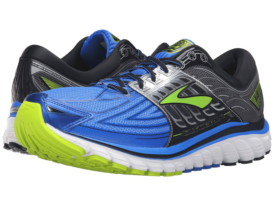 Brooks Glycerin 14 (Electric Brooks Blue/Black/Lime Punch) Men