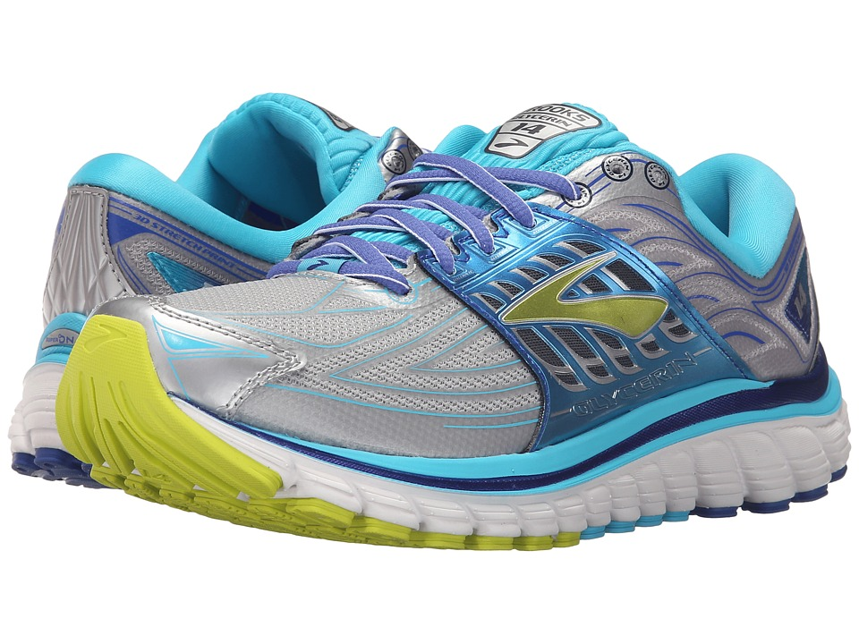 Brooks Glycerin 14 (Silver/Blue Atoll/Lime Punch) Women