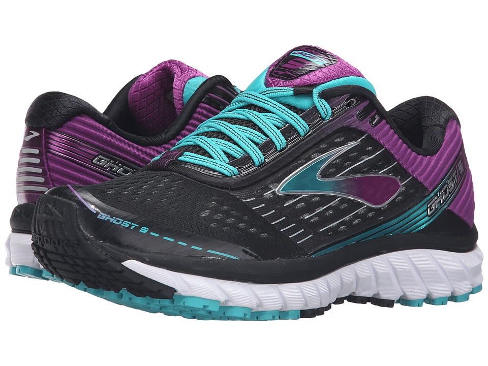 Brooks Ghost 9 (Black/Sparkling Grape/Ceramic) Women