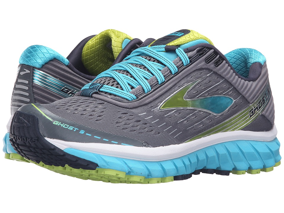 Brooks Ghost 9 (Silver/Blue Atoll/Lime Punch) Women