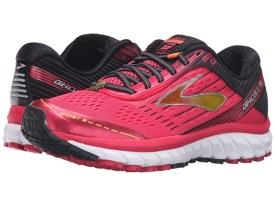 Brooks Ghost 9 (Azalea/Black/Cyber Yellow) Women