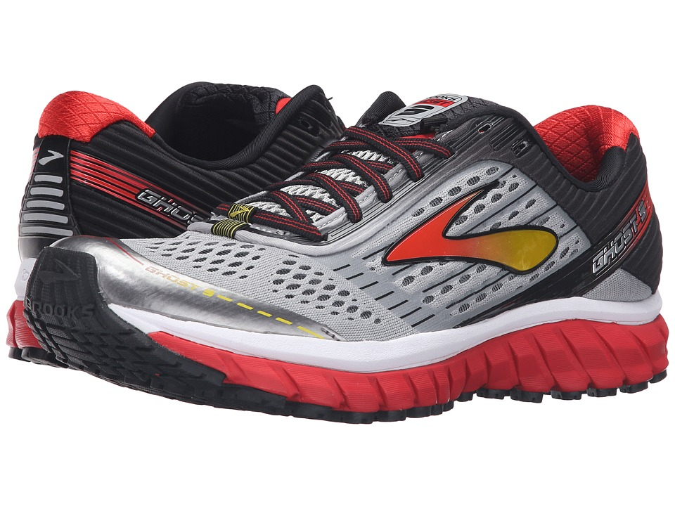 Brooks Ghost 9 (Alloy/High Risk Red/Black) Men