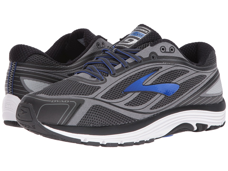 Brooks - Dyad 9 (Asphalt/Electric Brooks Blue/Black) Mens Running Shoes
