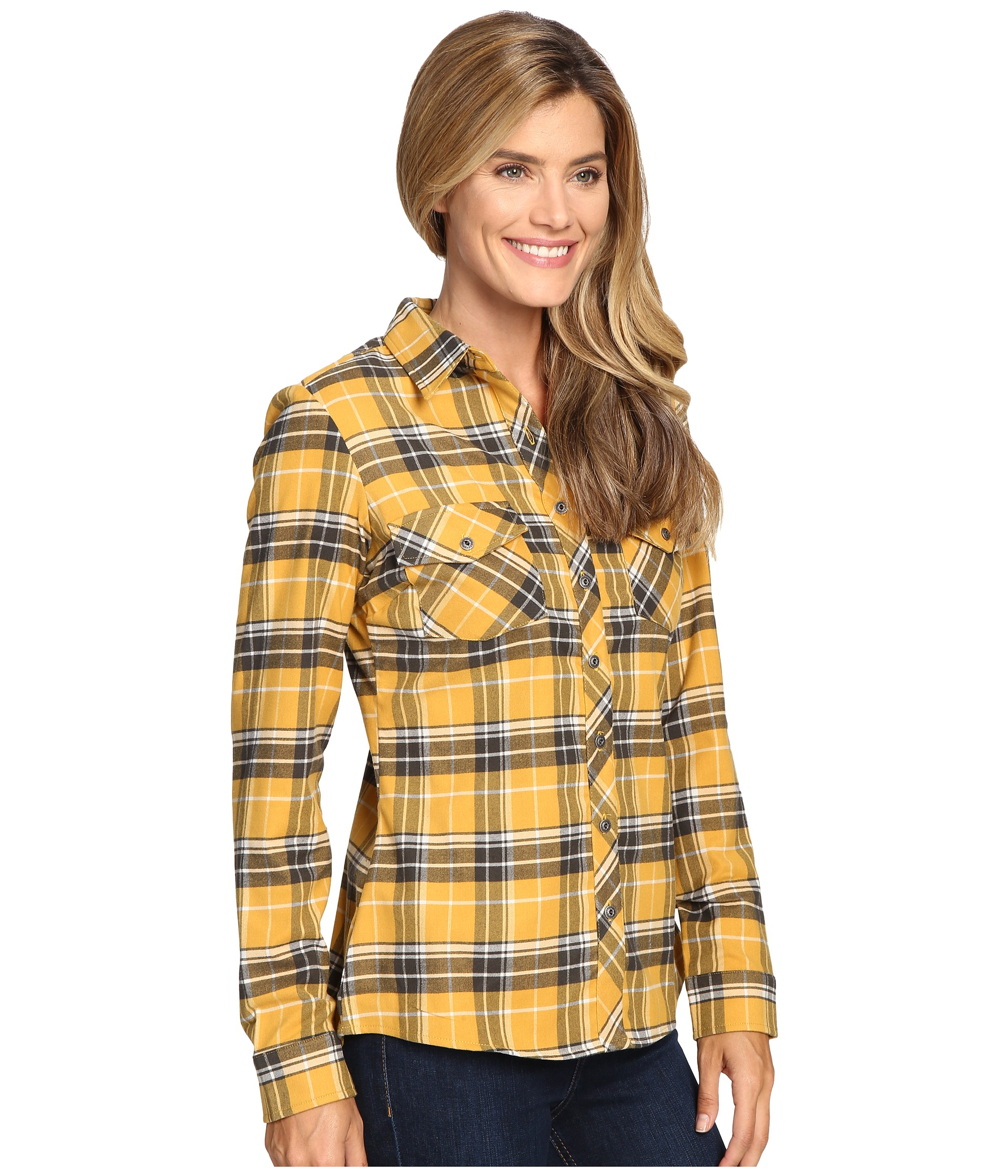 Kuhl alina flannel shirt harvest free for Athletic cut flannel shirts
