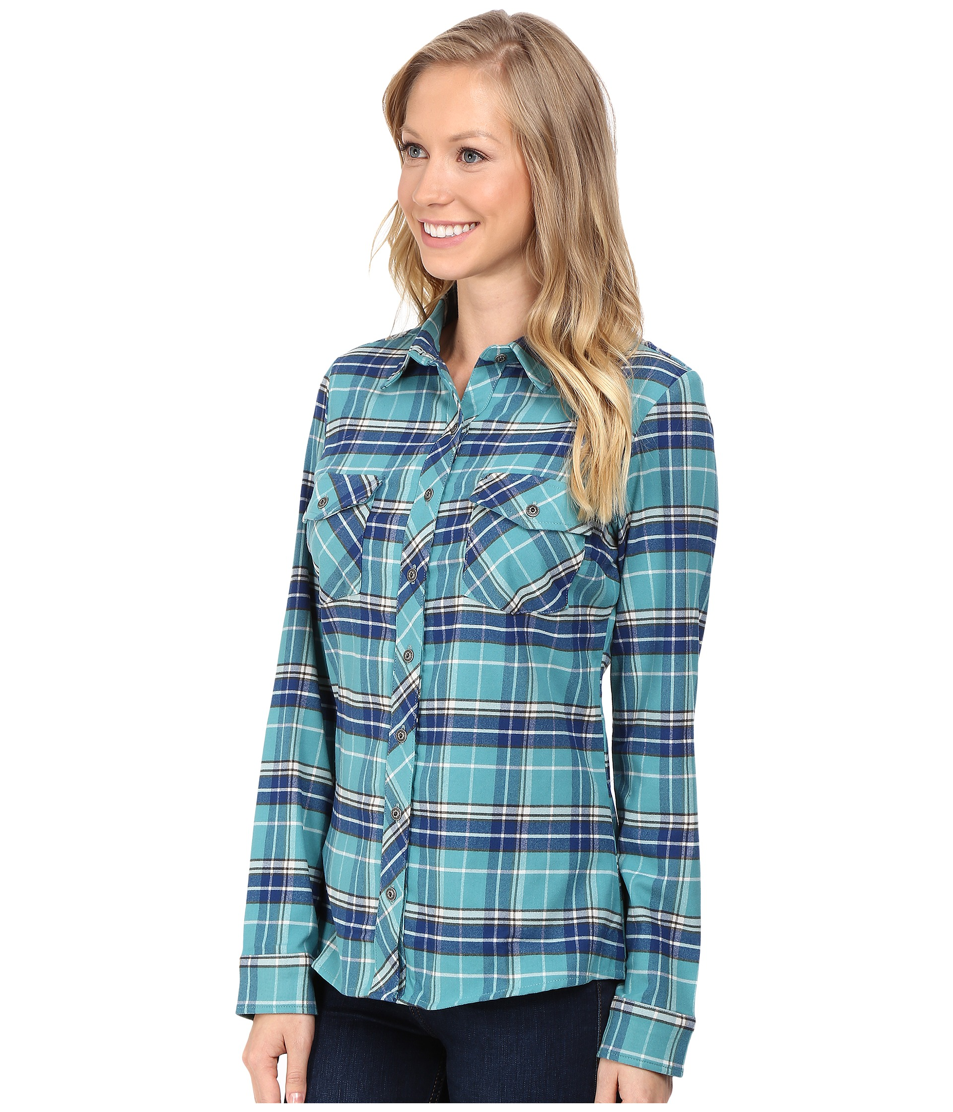 Kuhl alina flannel shirt jasper free shipping for Athletic cut flannel shirts
