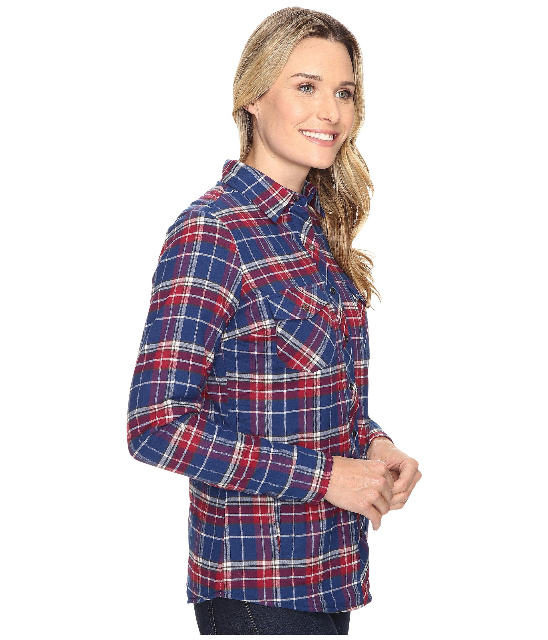 Kuhl amaya lined flannel shirt blue depths for Athletic cut flannel shirts