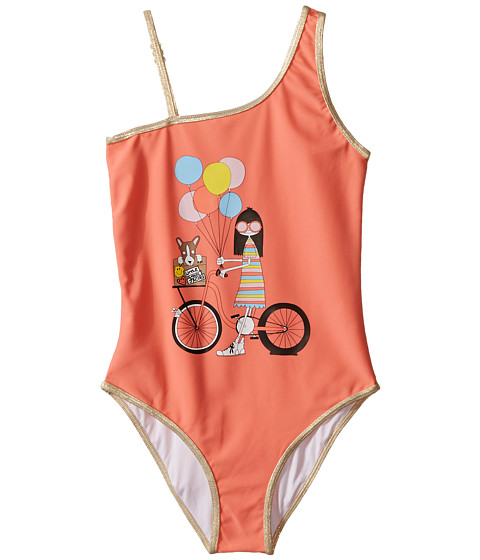 Little Marc Jacobs Ms Marc Graphic Swimsuit (Toddler/Little Kids/Big Kids)