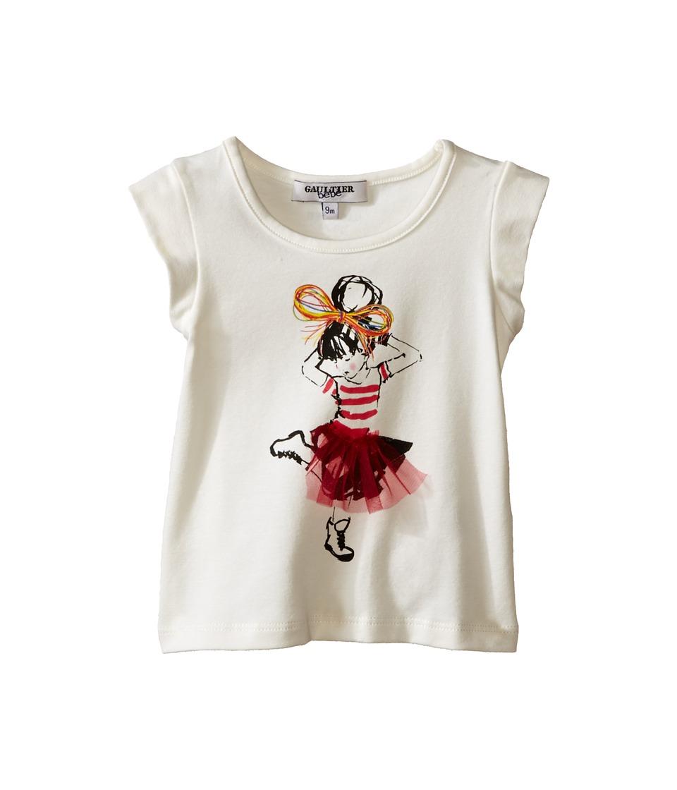 Junior Gaultier Sens T Shirt Infant Ecru Girls T Shirt
