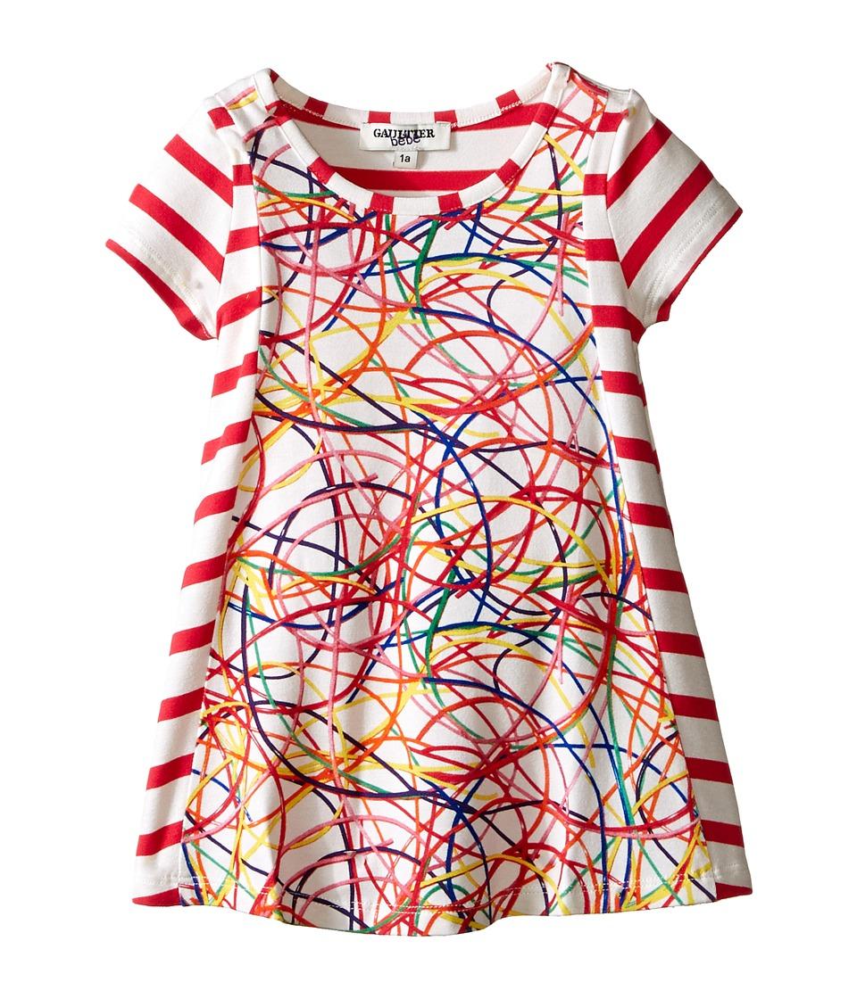 Junior Gaultier Scoubi Stripe Dress Infant Fuchsia Girls Dress