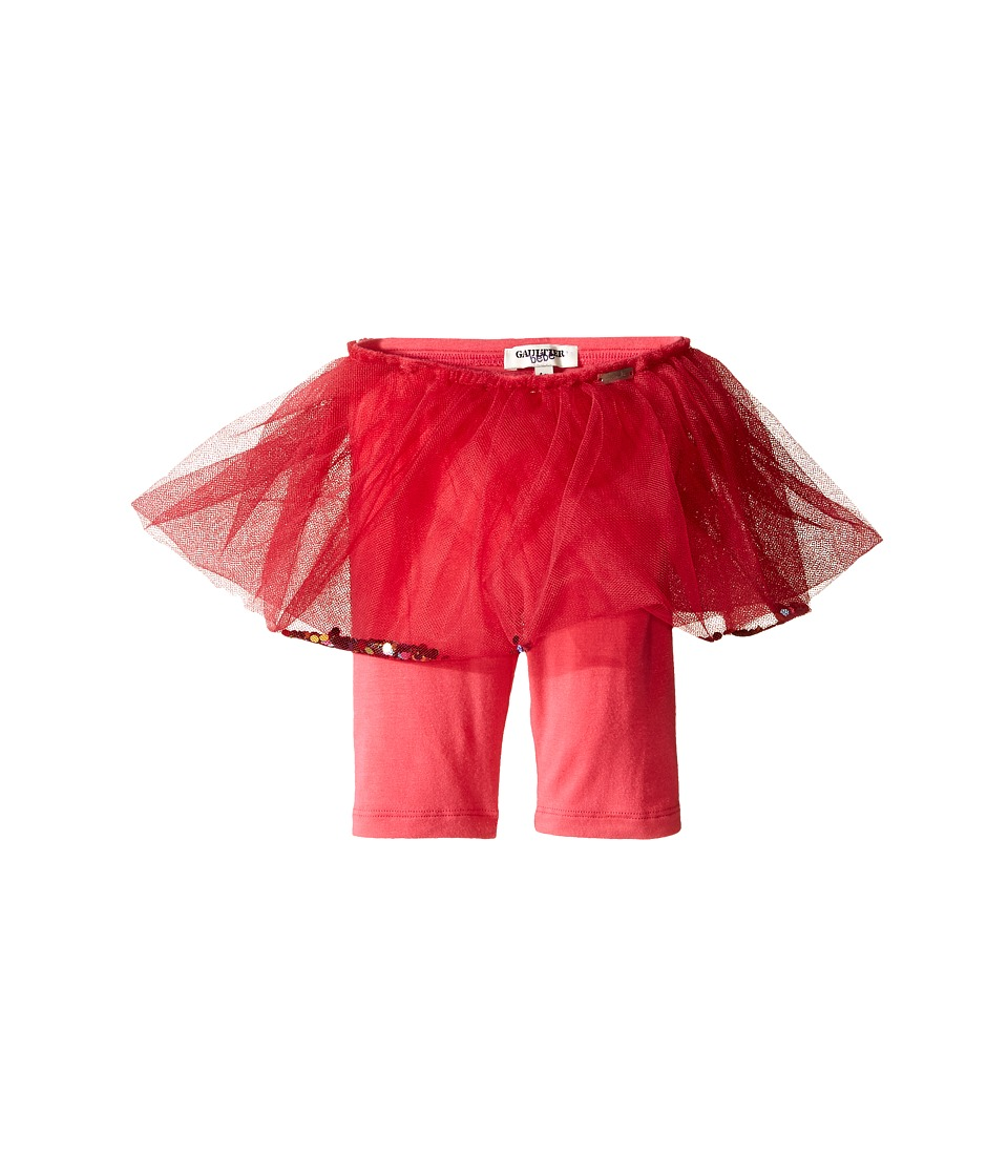 Junior Gaultier Satine Leggings with Attached Tulle Skirt Infant Pink Girls Casual Pants