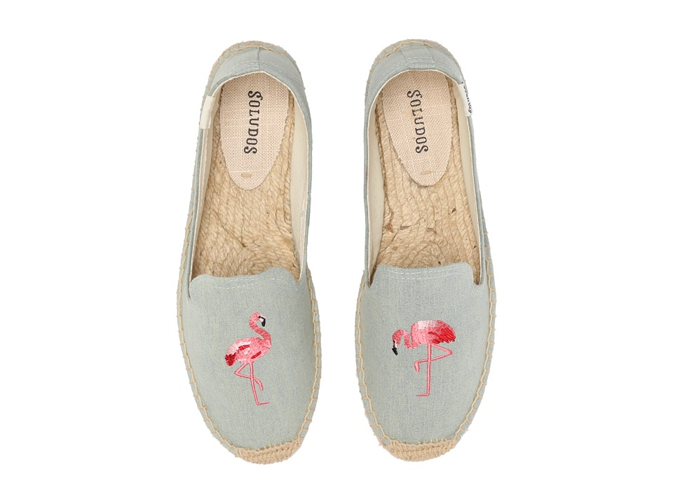 Soludos Smoking Slipper Embroidery (Flamingo Chambray) Slippers