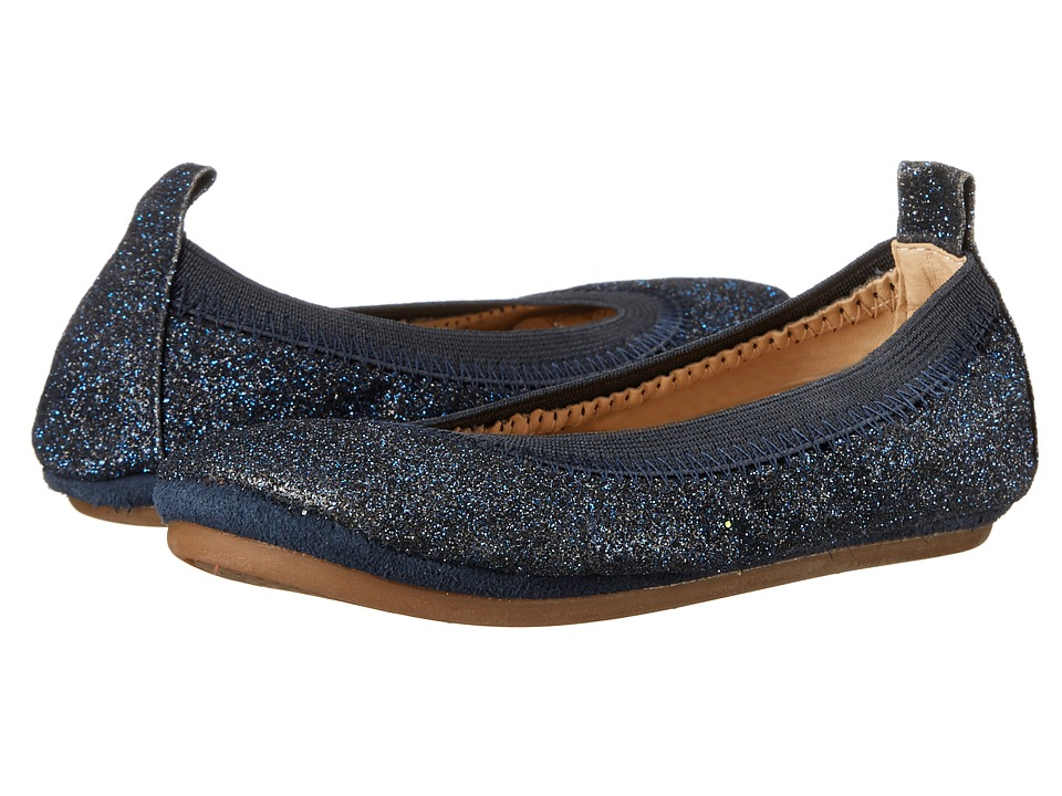 Yosi Samra Kids Sammie All Over Glitter Toddler Sapphire Glitter Girls Shoes