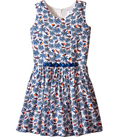 Little Marc Jacobs - Twill Viscose Lined Dress All Over Printed (Big Kids)