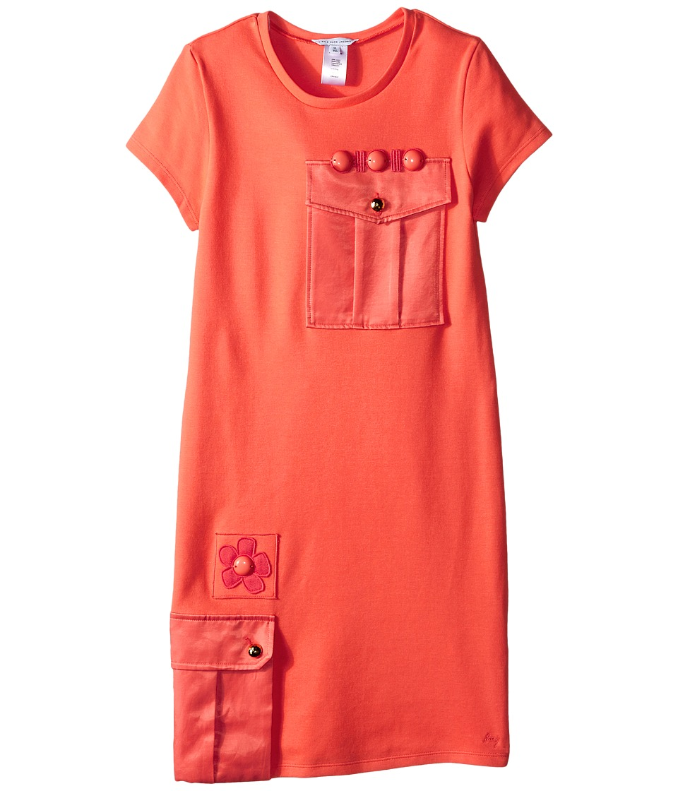 Little Marc Jacobs Milano Dress with Cabochons Big Kids Coral Girls Dress