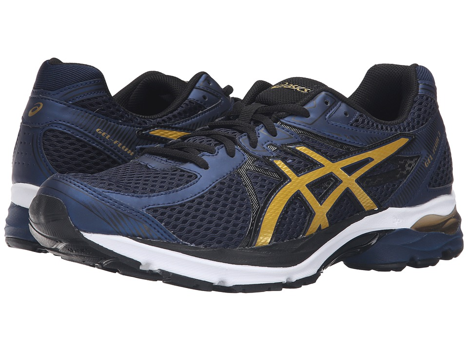 ASICS GEL-Flux 3 (Dark Navy/Rich Gold/Black) Men