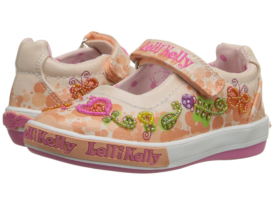 Lelli Kelly Kids Giardino Dolly Toddler/Little Kid Peach Combo Girls Shoes