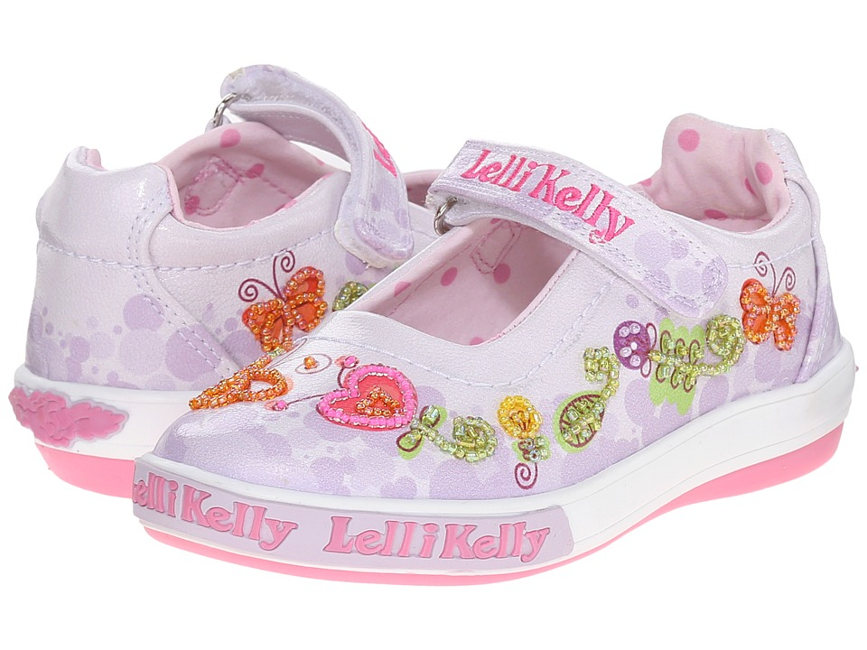 Lelli Kelly Kids Giardino Dolly Toddler/Little Kid Lilac Combo Girls Shoes