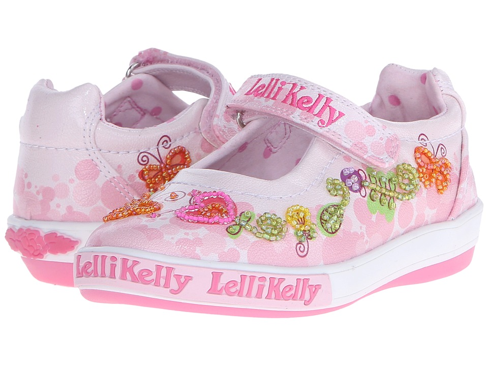 Lelli Kelly Kids Giardino Dolly Toddler/Little Kid Pink Combo Girls Shoes