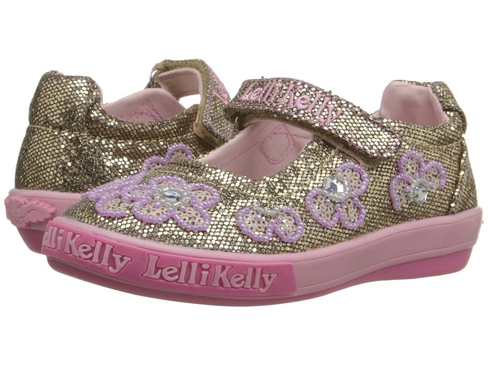 Lelli Kelly Kids Fiore Dolly Toddler/Little Kid Gold Glitter Girls Shoes