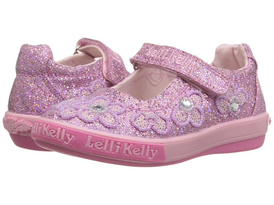 Lelli Kelly Kids Fiore Dolly Toddler/Little Kid Pink Glitter Girls Shoes