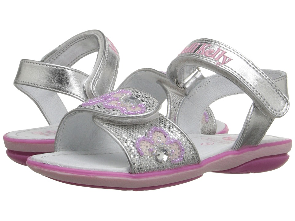 Lelli Kelly Kids Fiore Sandal Toddler/Little Kid Silver Glitter Girls Shoes
