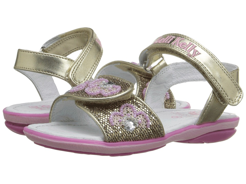 Lelli Kelly Kids Fiore Sandal Toddler/Little Kid Gold Glitter Girls Shoes