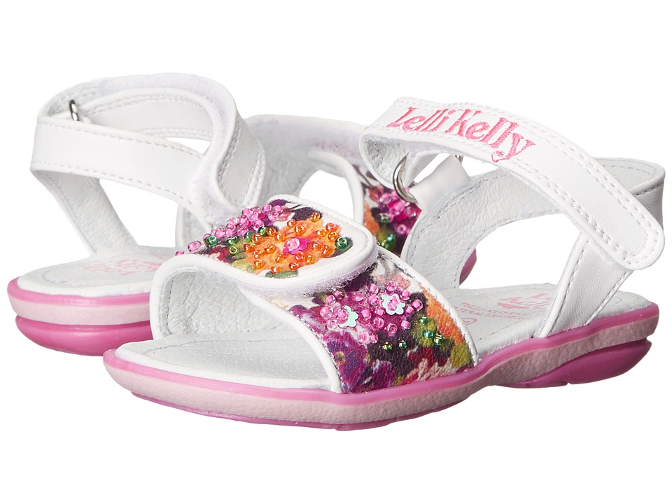 Lelli Kelly Kids Bella Sandal Toddler/Little Kid White Fantasy Girls Shoes