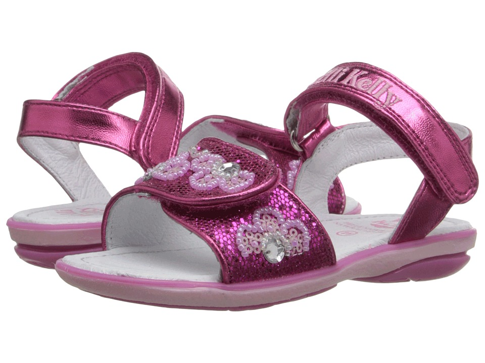 Lelli Kelly Kids Fiore Sandal Toddler/Little Kid Fuchsia Glitter Girls Shoes