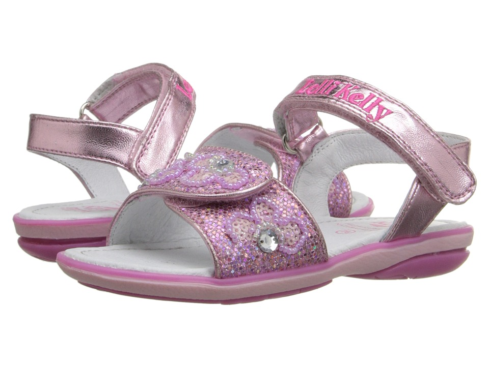 Lelli Kelly Kids Fiore Sandal Toddler/Little Kid Pink Glitter Girls Shoes