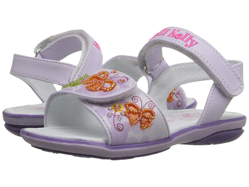 Lelli Kelly Kids Giardino Sandal Toddler/Little Kid Lilac Fantasy Girls Shoes