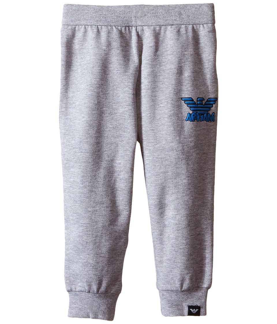 Armani Junior Basic Sweatpants Infant Dark Grey Boys Casual Pants