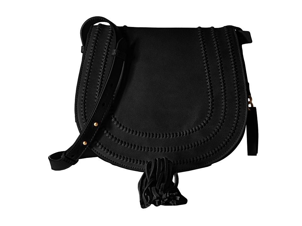 Vince Camuto Izzi Flap Black Cross Body Handbags
