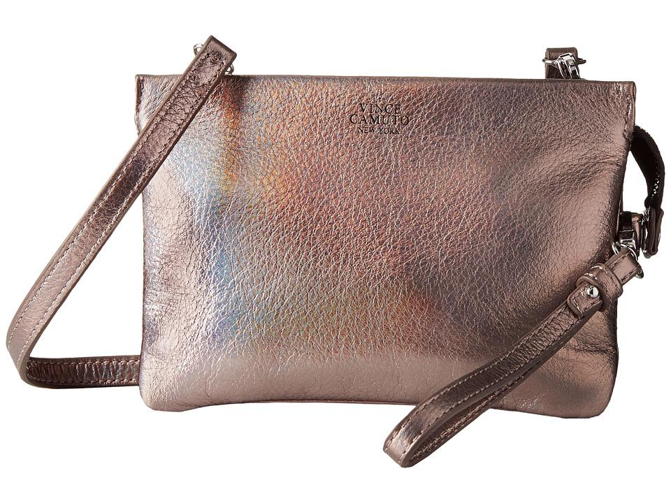 Vince Camuto Cami Crossbody Gunmetal Iridescent Cross Body Handbags