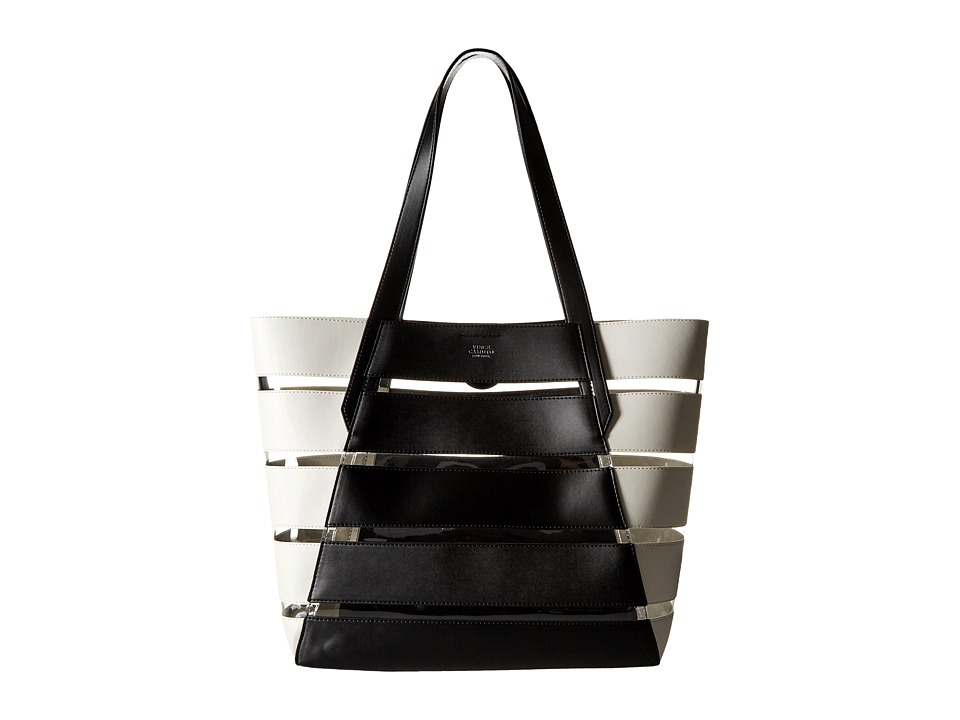 Vince Camuto - Dayna Tote (Black/Snow White/Clear) Tote Handbags