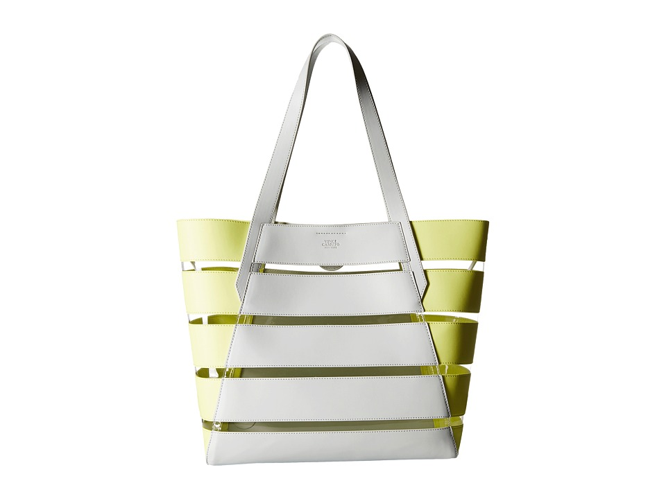 Vince Camuto - Dayna Tote (Pale Gray/Golden Apple/Clear) Tote Handbags