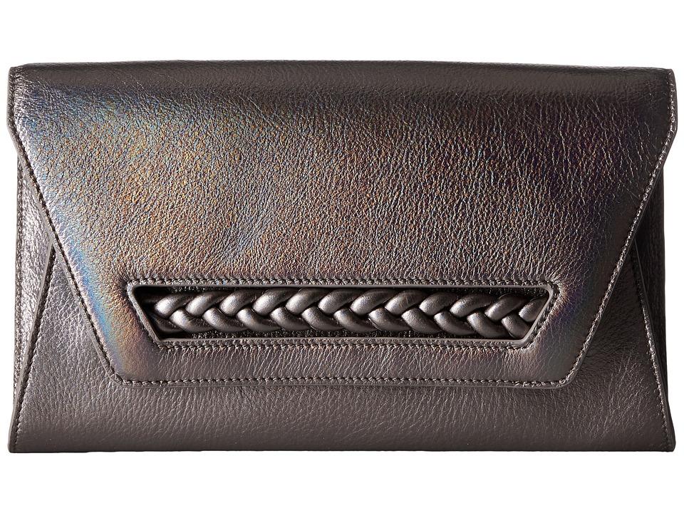 Vince Camuto - Zinya Clutch (Gunmetal Iridescent) Clutch Handbags