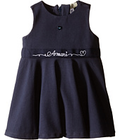 Armani Junior - Navy Jersey Dress with Armani Signature (Infant)