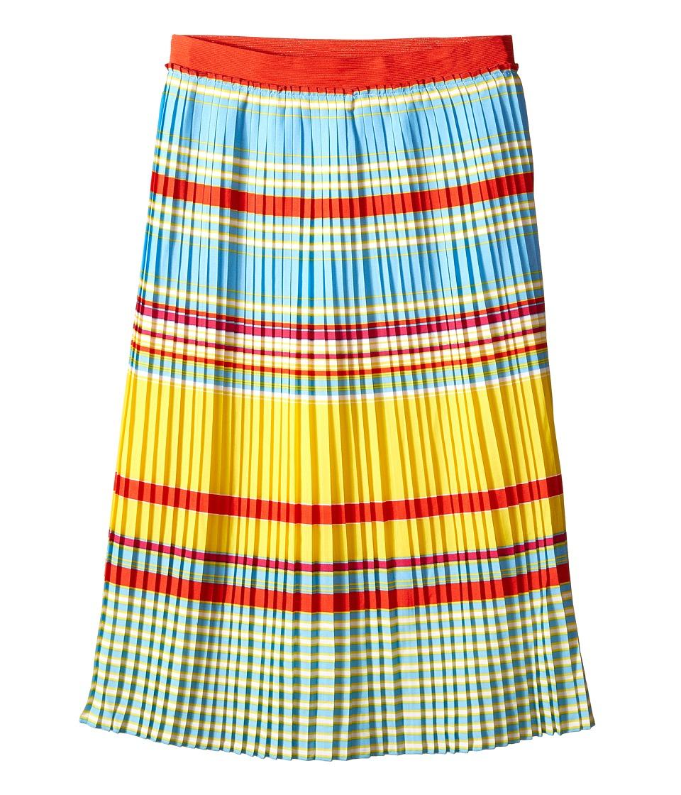 Little Marc Jacobs Crepe Skirt Stripes Print Big Kids Multicolor Girls Skirt