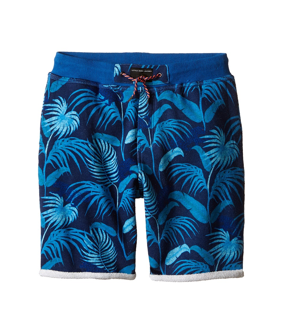 Little Marc Jacobs Fleece Shorts Jungle Print Little Kids/Big Kids Blue Boys Shorts