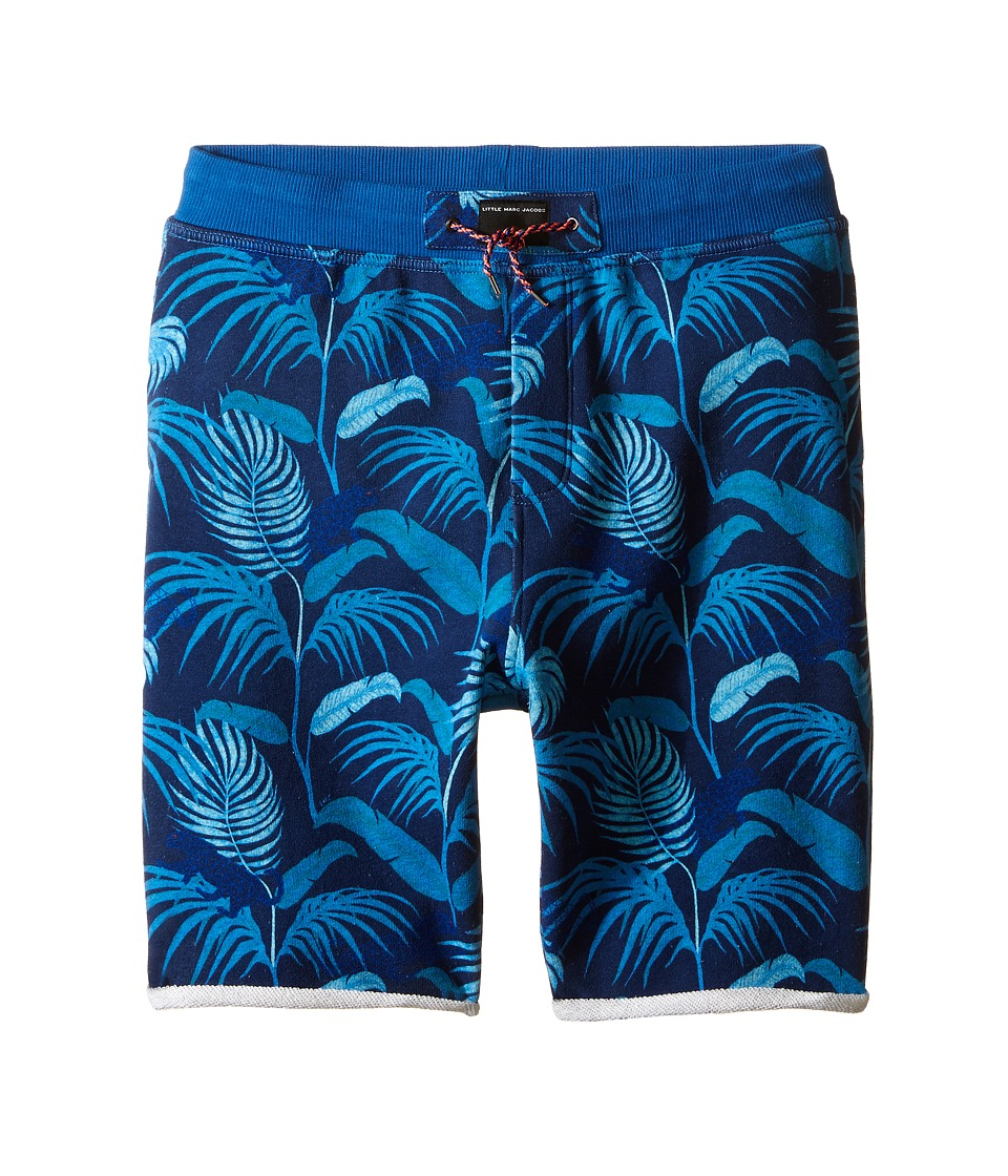 Little Marc Jacobs Fleece Shorts Jungle Print Big Kids Blue Boys Shorts