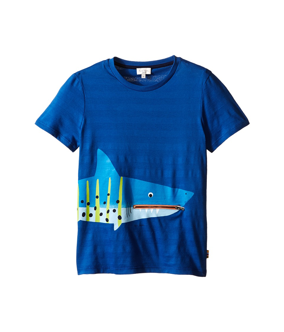 Paul Smith Junior Shark with Tongue/Pocket Tee Shirt Big Kids Royal Blue Boys T Shirt