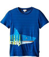 Paul Smith Junior - Shark with Tongue/Pocket Tee Shirt (Big Kids)