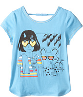Little Marc Jacobs - Jersey Tee Shirt with Sunglasses Mouse Print (Toddler/Little Kids)