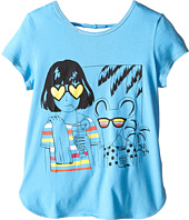 Little Marc Jacobs - Jersey Tee Shirt with Sunglasses Mouse Print (Little Kids/Big Kids)