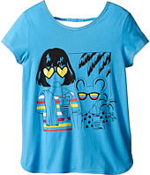 Little Marc Jacobs - Jersey Tee Shirt with Sunglasses Mouse Print (Big Kids)