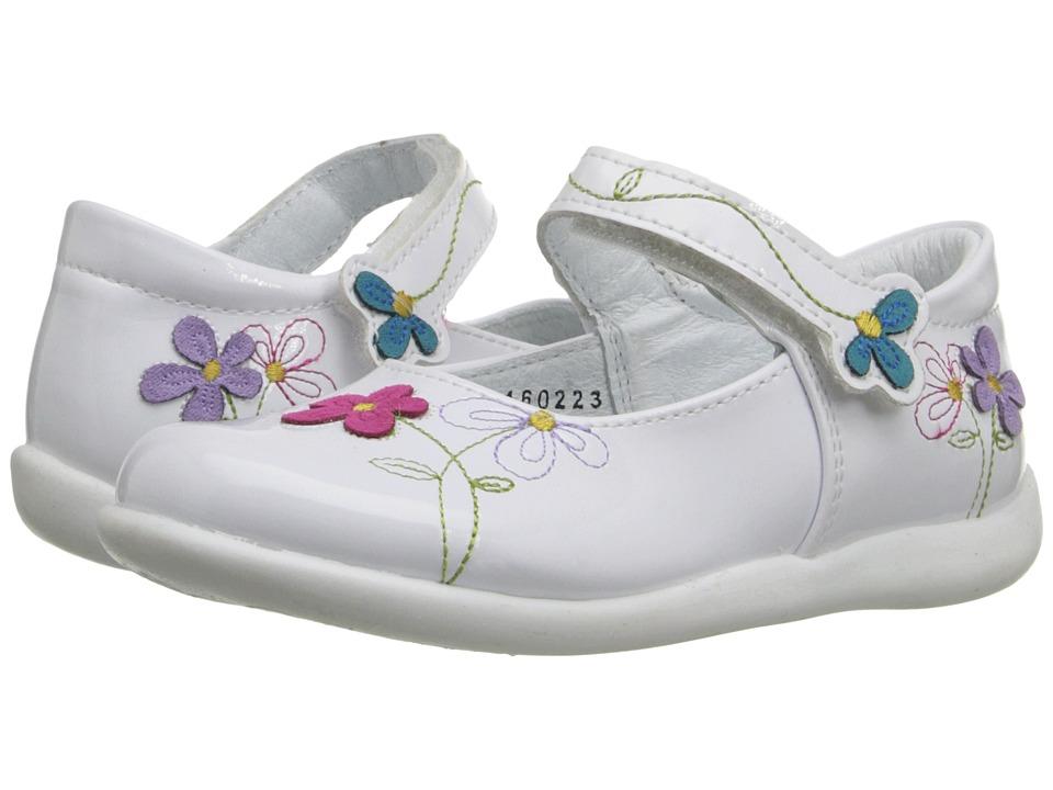 Kid Express Primrose Toddler/Little Kid White Patent Girls Shoes