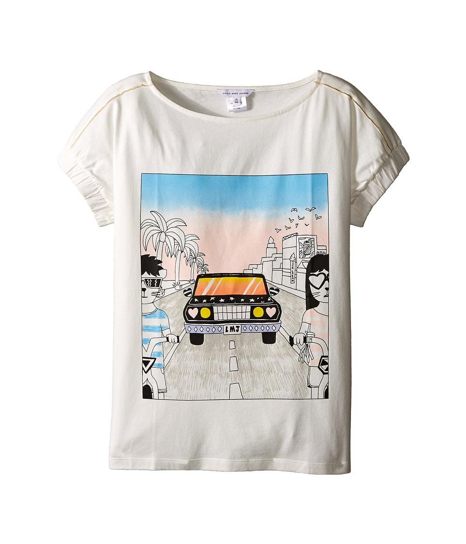 Little Marc Jacobs Cotton Jersey Tee Shirt Car Or Hello Sunshine Print Big Kids Off White Girls T Shirt